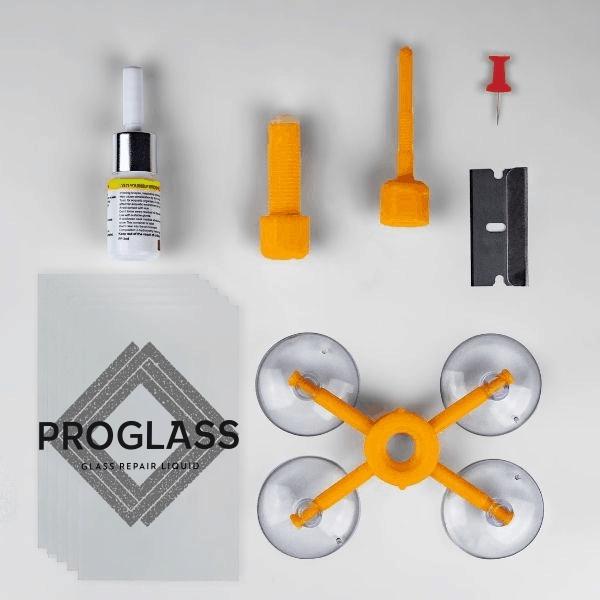 PROGLASS® Üvegjavító készlet.
